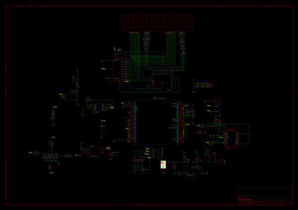 The Schematic created with Kicad